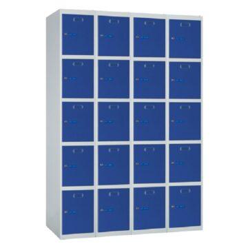 Taquilla metálica modular de 5 puertas ECOP, 4 columnas