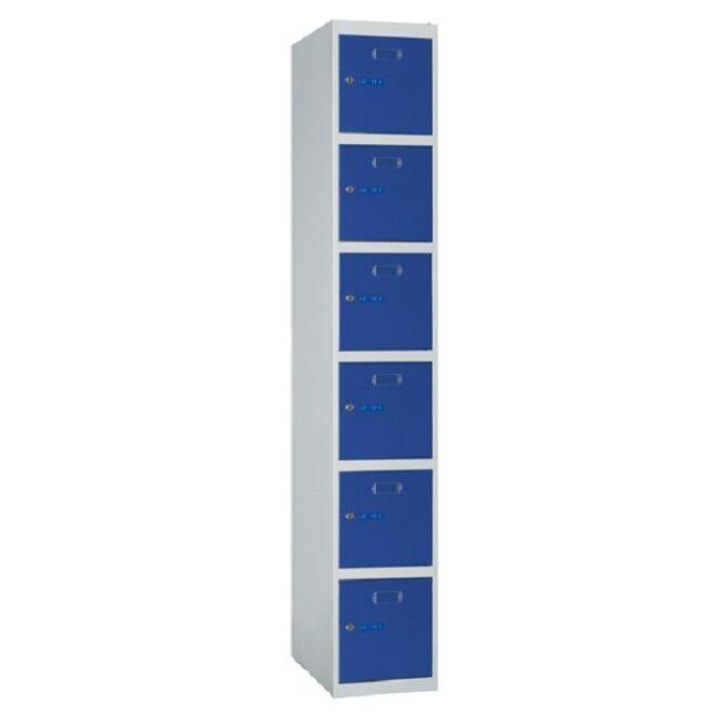 Taquilla metálica modular de 6 puertas ECOB, 1 columna