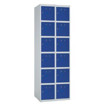 Taquilla metálica modular de 6 puertas ECOB, 2 columnas