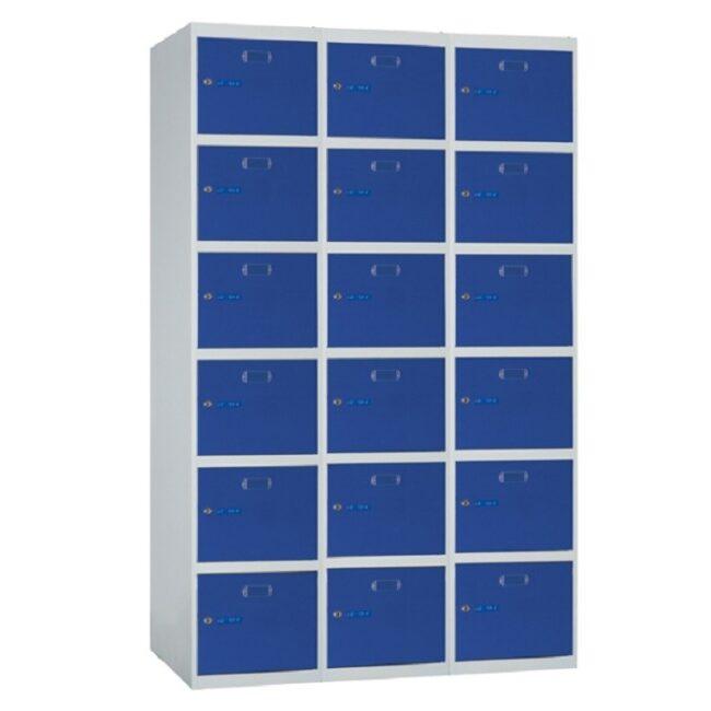Taquilla metálica modular de 6 puertas ECOB, 3 columnas