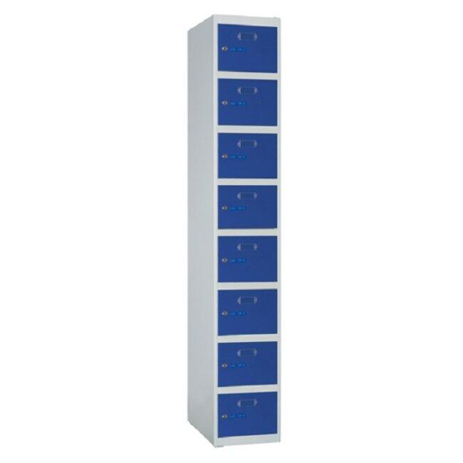 Taquilla metálica modular de 8 puertas ECOZ, 1 columna