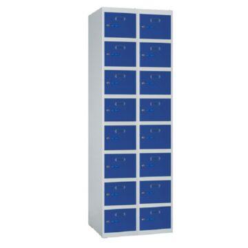 Taquilla metálica modular de 8 puertas ECOZ, 2 columnas