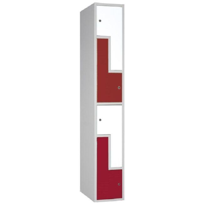 """Taquilla soldada monoblok de puertas en """"L"""" SL, 1 columna"""
