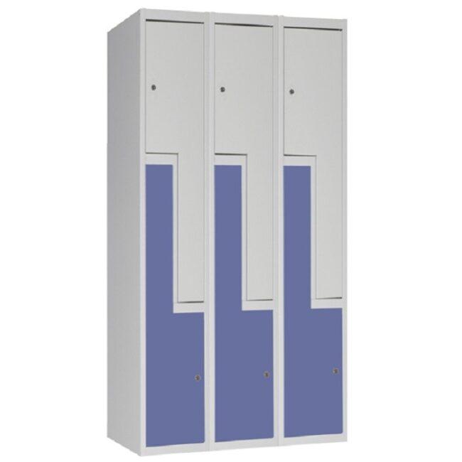 "Taquilla soldada monoblok de puertas en ""L"" SL, 3 columnas"