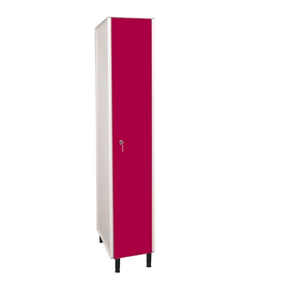 Taquilla fenólica con perfilería de 1 puerta FVP, 1 columna