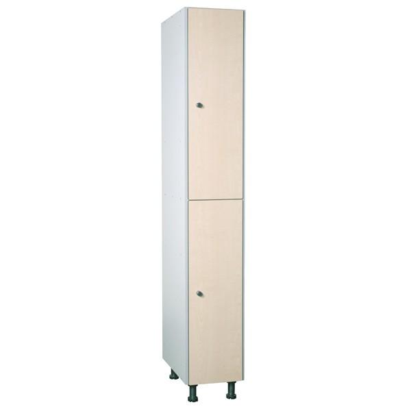 Taquilla fenólica con perfilería de 2 puertas FTP, 1 columna
