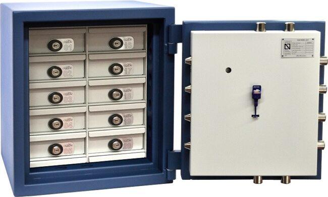 Caja fuerte certificada Olle AP-2E con compartimentos C205