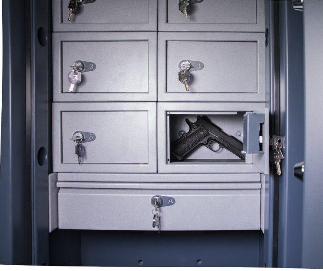 Compartimentos para armas cortas más cajón
